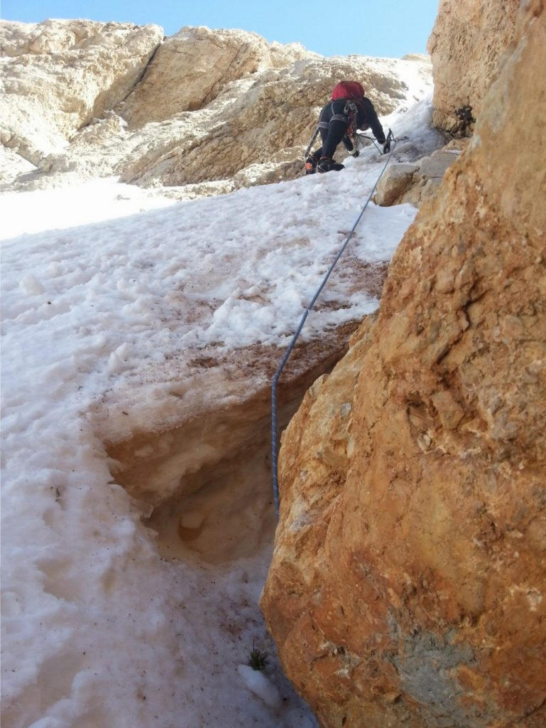 Ayşe kilit etapta tırmanırken