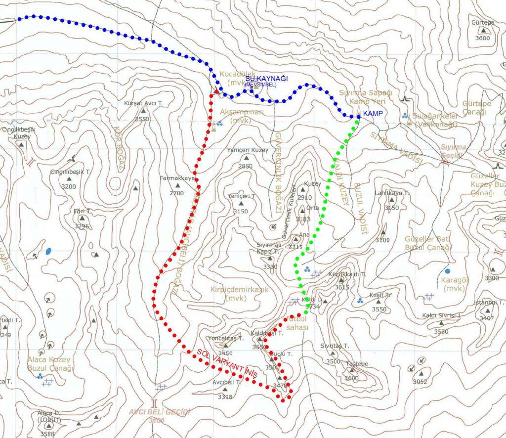 Harita: Tunç Fındık, Aladağlar kitap eki
