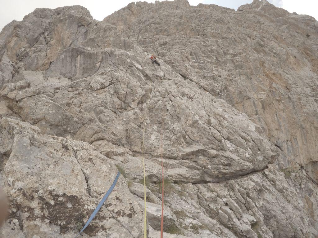 Yavuz, 7. ip boyunda sırtı geçerken